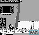 In-game screen of the game Pinocchio on Nintendo Game Boy