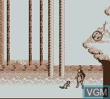 In-game screen of the game Pocahontas on Nintendo Game Boy