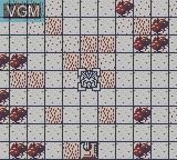 In-game screen of the game Dai-2-Ji Super Robot Taisen G on Nintendo Game Boy