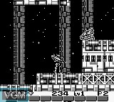 In-game screen of the game Uchuu no Kishi Tekkaman Blade on Nintendo Game Boy