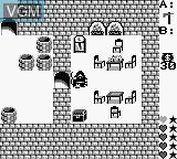 In-game screen of the game Ultima - Runes of Virtue II on Nintendo Game Boy