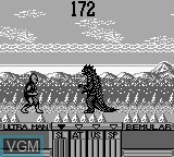 In-game screen of the game Ultraman on Nintendo Game Boy