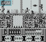In-game screen of the game Universal Soldier on Nintendo Game Boy