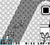 In-game screen of the game Wave Race on Nintendo Game Boy
