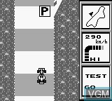 In-game screen of the game World Circuit Series on Nintendo Game Boy
