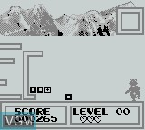 In-game screen of the game Arctic Zone on Nintendo Game Boy