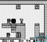 In-game screen of the game Pocket Bomberman on Nintendo Game Boy