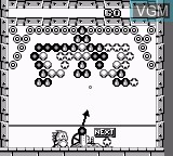 In-game screen of the game Bust-A-Move 2 - Arcade Edition on Nintendo Game Boy