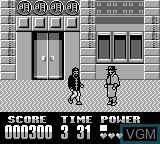 In-game screen of the game Darkman on Nintendo Game Boy