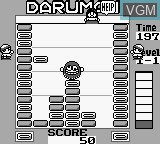 In-game screen of the game Daruman Busters on Nintendo Game Boy