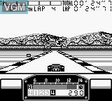 In-game screen of the game F-1 Pole Position on Nintendo Game Boy