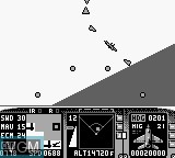 In-game screen of the game F-15 Strike Eagle on Nintendo Game Boy