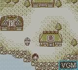 In-game screen of the game Kawa no Nushi Tsuri 3 on Nintendo Game Boy