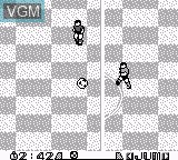 In-game screen of the game J.League Fighting Soccer on Nintendo Game Boy