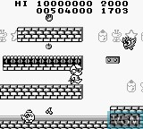In-game screen of the game Jankenman on Nintendo Game Boy