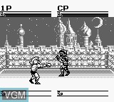 In-game screen of the game Kinnikuman DM on Nintendo Game Boy