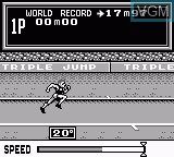 In-game screen of the game Konami Sports on Nintendo Game Boy