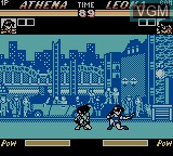In-game screen of the game Nettou King of Fighters '96 on Nintendo Game Boy