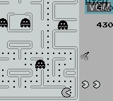In-game screen of the game Pac-Man on Nintendo Game Boy