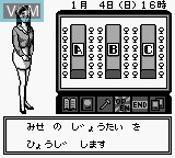 In-game screen of the game Pachinko Gaiden on Nintendo Game Boy