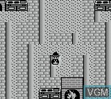 In-game screen of the game Painter Momo Pie on Nintendo Game Boy