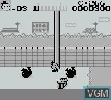 In-game screen of the game Parasoru Hembei on Nintendo Game Boy