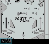 In-game screen of the game Pinball Deluxe on Nintendo Game Boy