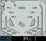 In-game screen of the game Pinball Fantasies on Nintendo Game Boy
