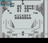In-game screen of the game Pinball Mania on Nintendo Game Boy