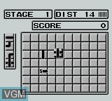 In-game screen of the game Pipe Dream on Nintendo Game Boy