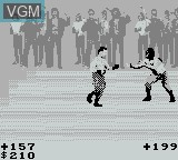 In-game screen of the game Pit Fighter on Nintendo Game Boy