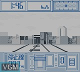 In-game screen of the game Pocket Densha on Nintendo Game Boy