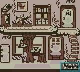 In-game screen of the game Pocket Kyoro-chan on Nintendo Game Boy