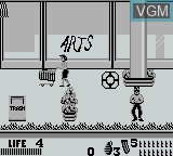 In-game screen of the game Punisher, The - The Ultimate Payback on Nintendo Game Boy