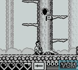 In-game screen of the game Addams Family, The on Nintendo Game Boy