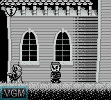 In-game screen of the game Addams Family, The - Pugsley's Scavenger Hunt on Nintendo Game Boy