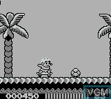 In-game screen of the game Adventure Island on Nintendo Game Boy