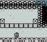 In-game screen of the game Wario Land - Super Mario Land 3 on Nintendo Game Boy