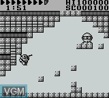 In-game screen of the game After Burst on Nintendo Game Boy