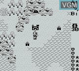 In-game screen of the game Ultima - Runes of Virtue on Nintendo Game Boy