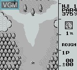 In-game screen of the game Ultra Golf on Nintendo Game Boy