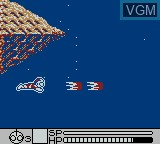 In-game screen of the game Ultraman Chou Toushi Gekiden on Nintendo Game Boy