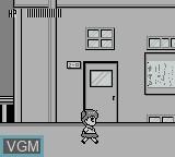 In-game screen of the game Wapiko no Waku Waku Stamp Ralley! - Kingyo Chuuihou! on Nintendo Game Boy