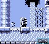 In-game screen of the game Wario Land II on Nintendo Game Boy