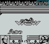 In-game screen of the game WCW Main Event on Nintendo Game Boy
