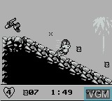 In-game screen of the game We're Back! - A Dinosaur's Story on Nintendo Game Boy