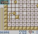 In-game screen of the game Wedding Peach - Jamapii Panic on Nintendo Game Boy