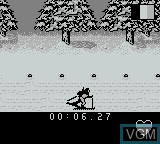 In-game screen of the game XVII Olympic Winter Games, The - Lillehammer 1994 on Nintendo Game Boy