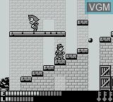 In-game screen of the game Avenging Spirit on Nintendo Game Boy