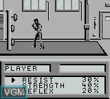 In-game screen of the game Best of the Best - Championship Karate on Nintendo Game Boy